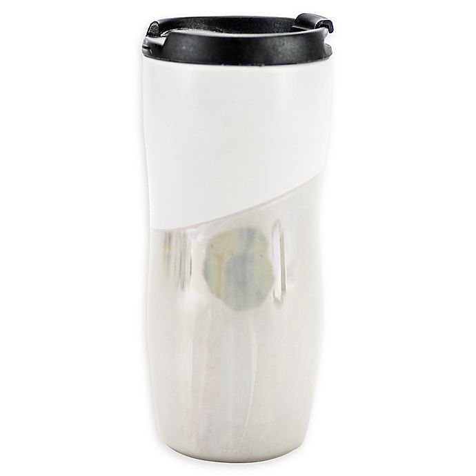 Alternate image 1 for Boston Warehouse® 12 oz. Ceramic Mug with Lid