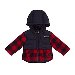Free Country Maple Plaid Fleece Toddler Jacket in Red/Black