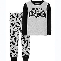 carter's® 2-Piece Bats Nightlife Toddler Pajama Set