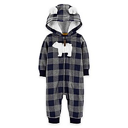 carter's® Polar Bear Hood Fleece Jumpsuit