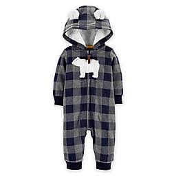 carter's® Polar Bear Hood Fleece Jumpsuit