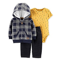 carter's® 3-Piece Plaid Fleece Jacket Set