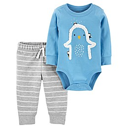 carter's® 2-Piece Penguin Bodysuit Pant Set in Blue