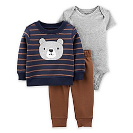 carter's® 3-Piece Bear Fleece Cardigan Set