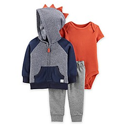 carter's® 3-Piece Striped Little Jacket Set in Navy