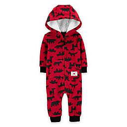 carter's Woodland Hooded Coverall in Red