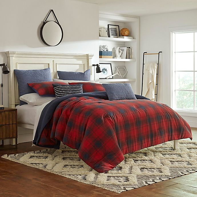 Alternate image 1 for Nautica® Brighton Duvet Cover Set in Red