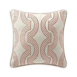 Rose Tree Sienna Square Throw Pillow in Beige