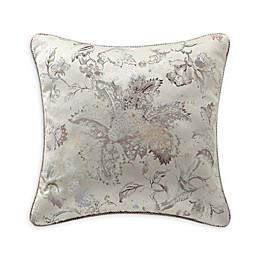 Rose Tree Sienna Floral Square Throw Pillow in Beige