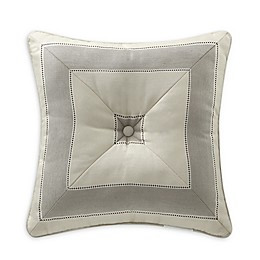 Rose Tree Sienna Striped Square Throw Pillow in Beige