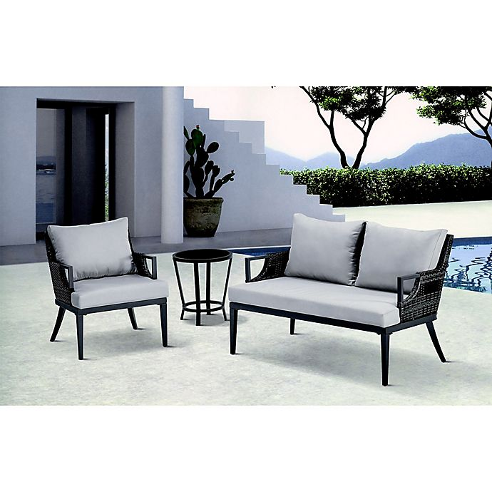 Alternate image 1 for Madison Park Dustin Outdoor Seating in Grey
