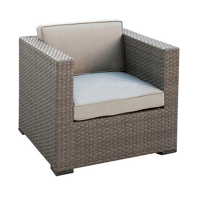 Alternate image 1 for Atlantic Bellagio 2-Piece Patio Armchair Set in Grey with Sunbrella® Cushions