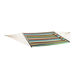 Red Stripe 12-Foot Hammock with Hanging Hardware