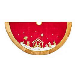 """Kurt Adler® 48"""" Religious Christmas Tree Skirt"""