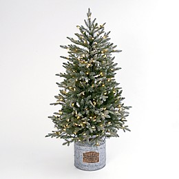 Gerson International 4' Rustic Lighted Artificial Holiday Tree