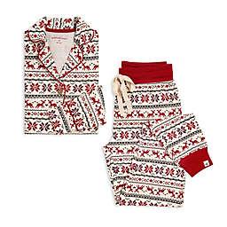 Burt's Bees Baby® Dashing Deer Fair Isle 2-Piece Women's Organic Cotton Pajama Set