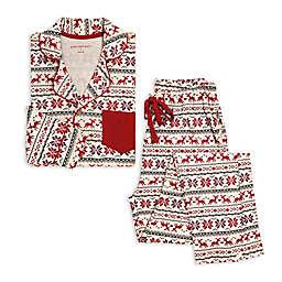 Burt's Bees Baby® Dashing Deer Fair Isle 2-Piece Men's Organic Cotton Pajama Set