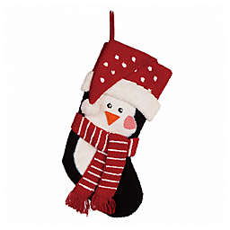 Glitzhome® 19-Inch 3D Hooked Penguin Stocking