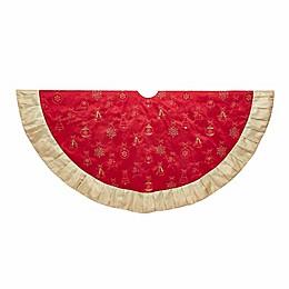Kurt Adler® 60-Inch Ornament Tree Christmas Skirt in Red/Gold