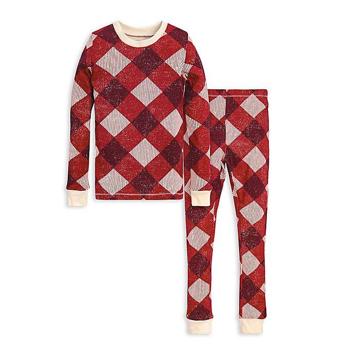 Alternate image 1 for Burt's Bees Baby® Abstract Argyle 2-Piece Big Kids Organic Cotton Pajama Set