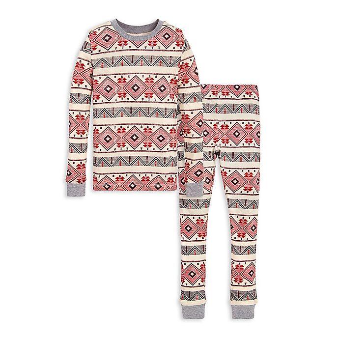 Alternate image 1 for Burt's Bees Baby® Aspen Cabin 2-Piece Organic Cotton Big Kids Pajama Set