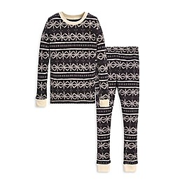 Burt's Bees Baby® Frozen Fair Isle 2-Piece Big Kids Organic Cotton Pajama Set