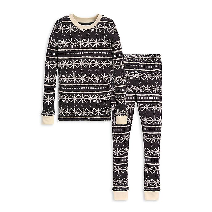 Alternate image 1 for Burt's Bees Baby® Frozen Fair Isle 2-Piece Big Kids Organic Cotton Pajama Set