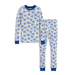 Burt's Bees Baby® Icy Snowflakes Big Kids Organic Cotton Pajama Set in Blue/Ivory