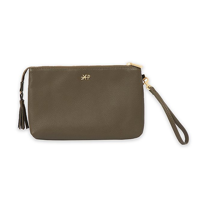 Alternate image 1 for Freshly Picked Classic Zip Diaper Clutch in Olive
