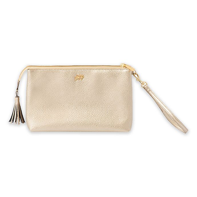 Alternate image 1 for Freshly Picked Classic Zip Diaper Clutch in Platinum