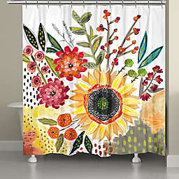 Laural Home® Sunday Blooms Shower Curtain