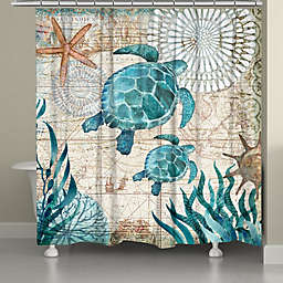 Laural Home® Bay Turtles Shower Curtain