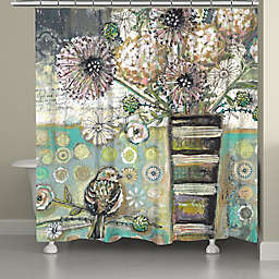 Laural Home® Bird and Bouquet Shower Curtain