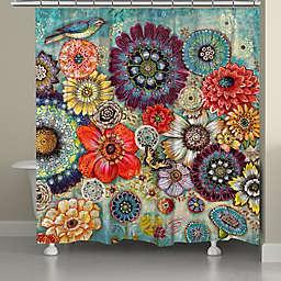 Laural Home® Blue Bird Boho Shower Curtain