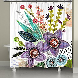 Laural Home® Violet Blooms Shower Curtain