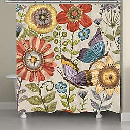 Laural Home® Boho Butterfly Garden Shower Curtain