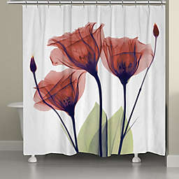 Laural Home® X-Ray Flowers Shower Curtain