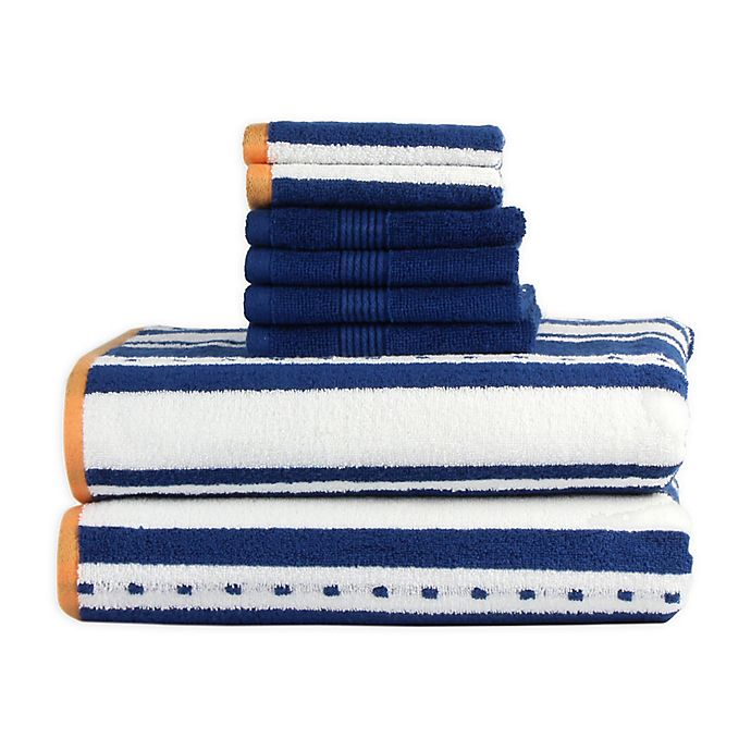 Alternate image 1 for Freshee™ 8-Piece Stripe Towel Set