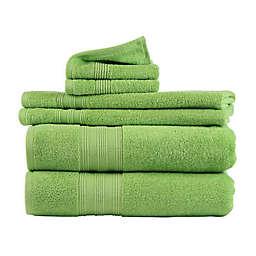 Freshee™ Solid 6-Piece Towel Set in Green