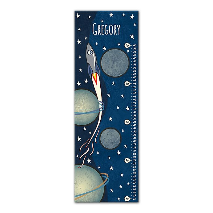 Alternate image 1 for Rocket Growth Chart Canvas Wall Art in Blue