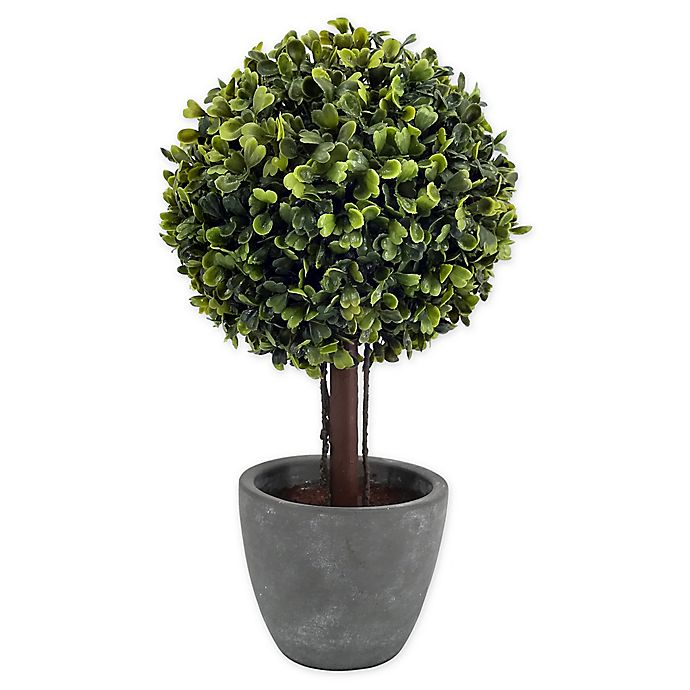 Alternate image 1 for Bee & Willow™ Home Boxwood Artificial Topiary in Cement Pot