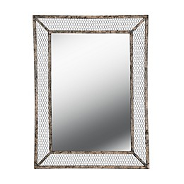 Kenroy Home Grover 40-Inch x 30-Inch Rectangle Wall Mirror in Weathered Brown