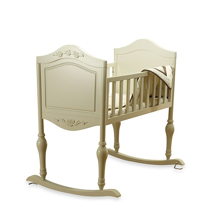 Alternate image 1 for Sorelle Lisa Cradle with Mattress in French White