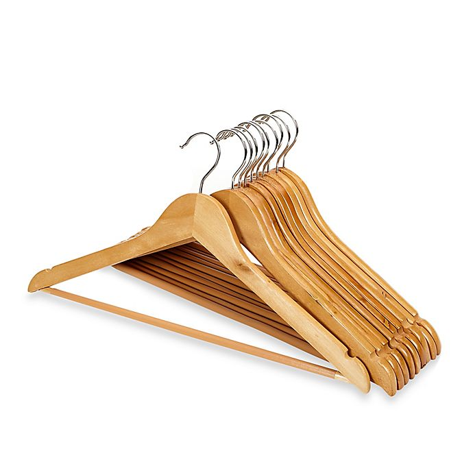Alternate image 1 for 10-pack Wood Suit Hangers