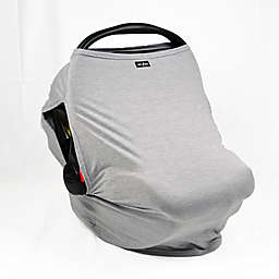 UPF 50+ Car Seat Cover with Side Vents in Heather Grey