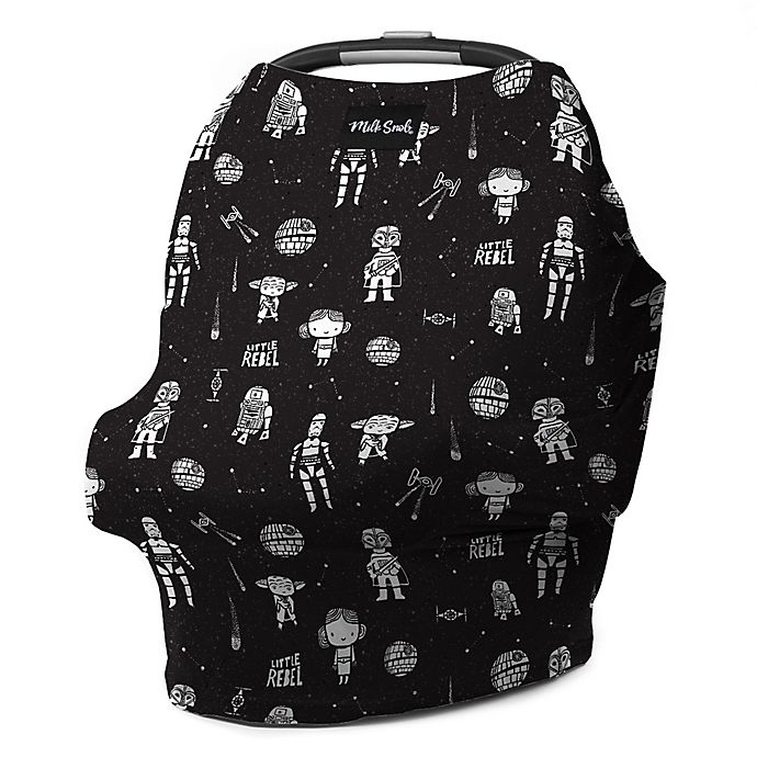Alternate image 1 for Milk Snob® Multi-Use Star Wars™ Little Rebel Car Seat Cover in Black