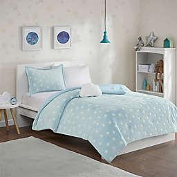 Mi Zone Kids Quinny Glow in the Dark Plush Comforter Set in Aqua