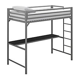 EveryRoom Mason Twin Loft Bed with Desk
