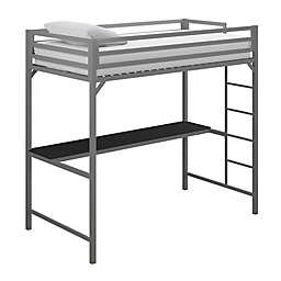 EveryRoom Mason Twin Loft Bed with Desk