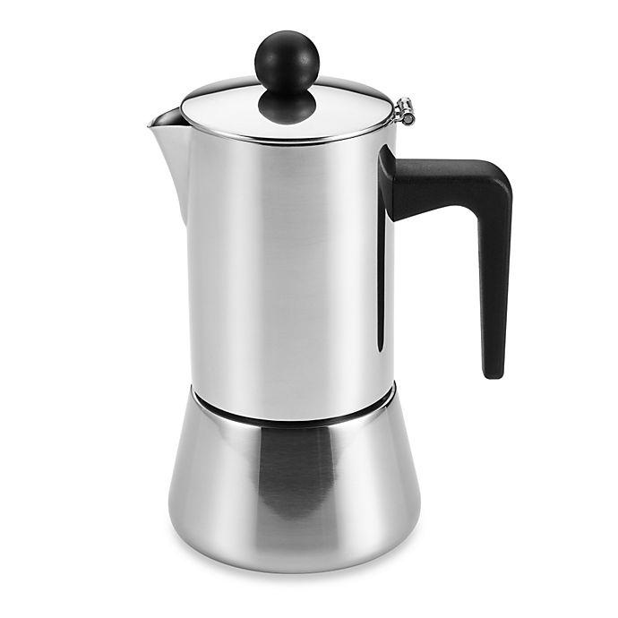 Alternate image 1 for BonJour® 4-Cup Stovetop Stainless Steel Espresso Maker